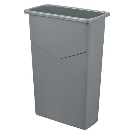 Gray Gallon - Slim Trash Container, 23 Gallon, Gray, Lot of 1
