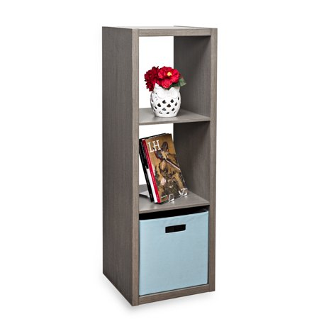 Honey Can Do Premium Laminate Storage Cube with 3 Cubes, Weathered Teak ()