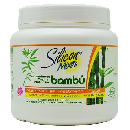 Silicon Mix Bambu Nutritive Hair Treatment 36 Oz For Brittle   Dull Hair