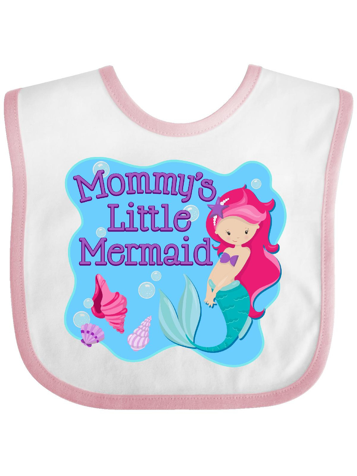 Mommy s Little Mermaid Baby Bib Walmart