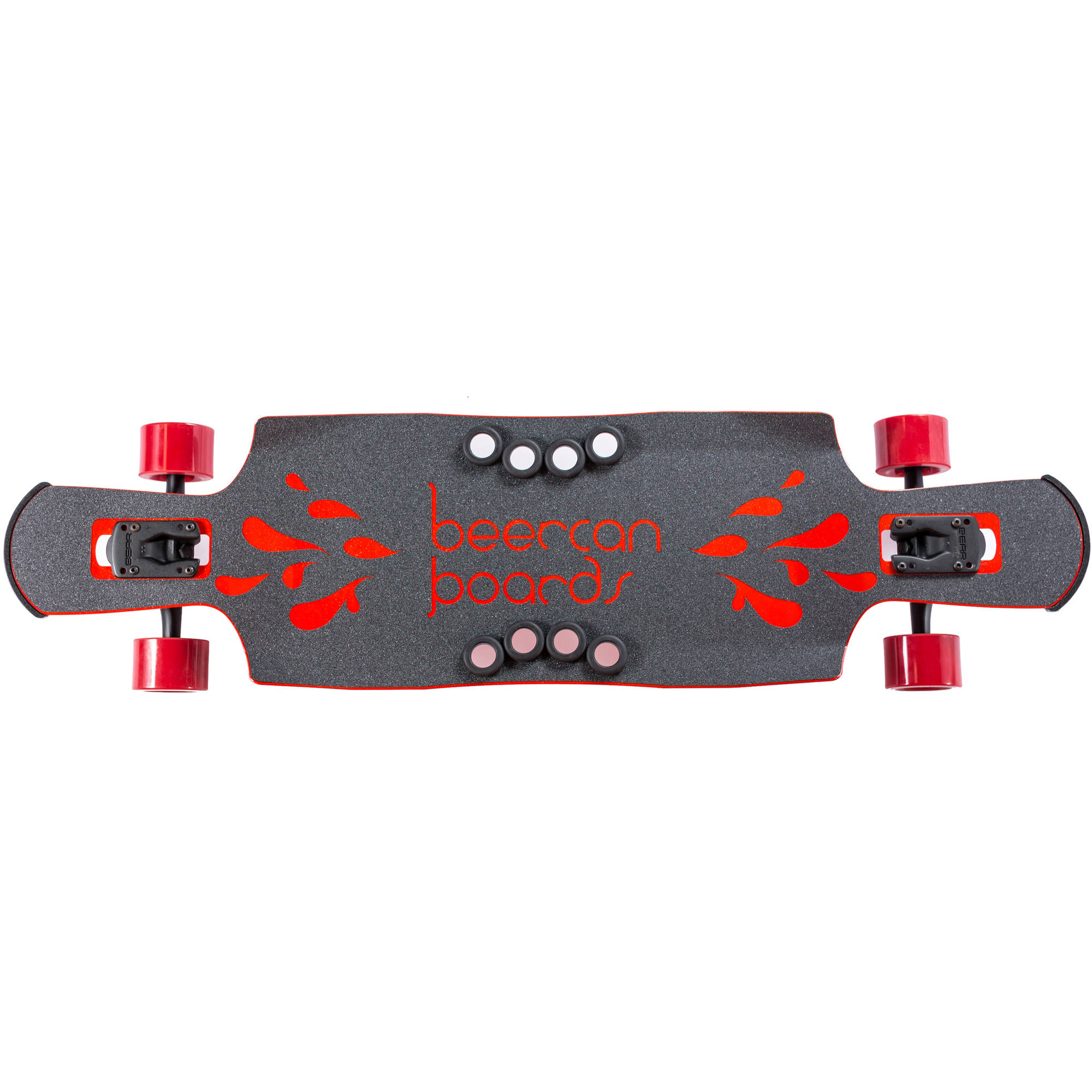 """40"""" Red Kegger Complete Longboard, Double Drop with Pedals by Beercan Boards"""
