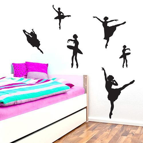 Set of Ballerines Wall Decals PLUM PURPLE