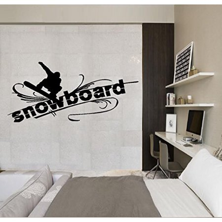 - Snowboard, (With Snowboarder) #2 : Wall or Window Decal 12