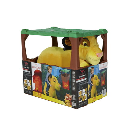 Lion King 6 Volt Cub Simba Plush Ride On by Dynacraft with Jungle Den Included!