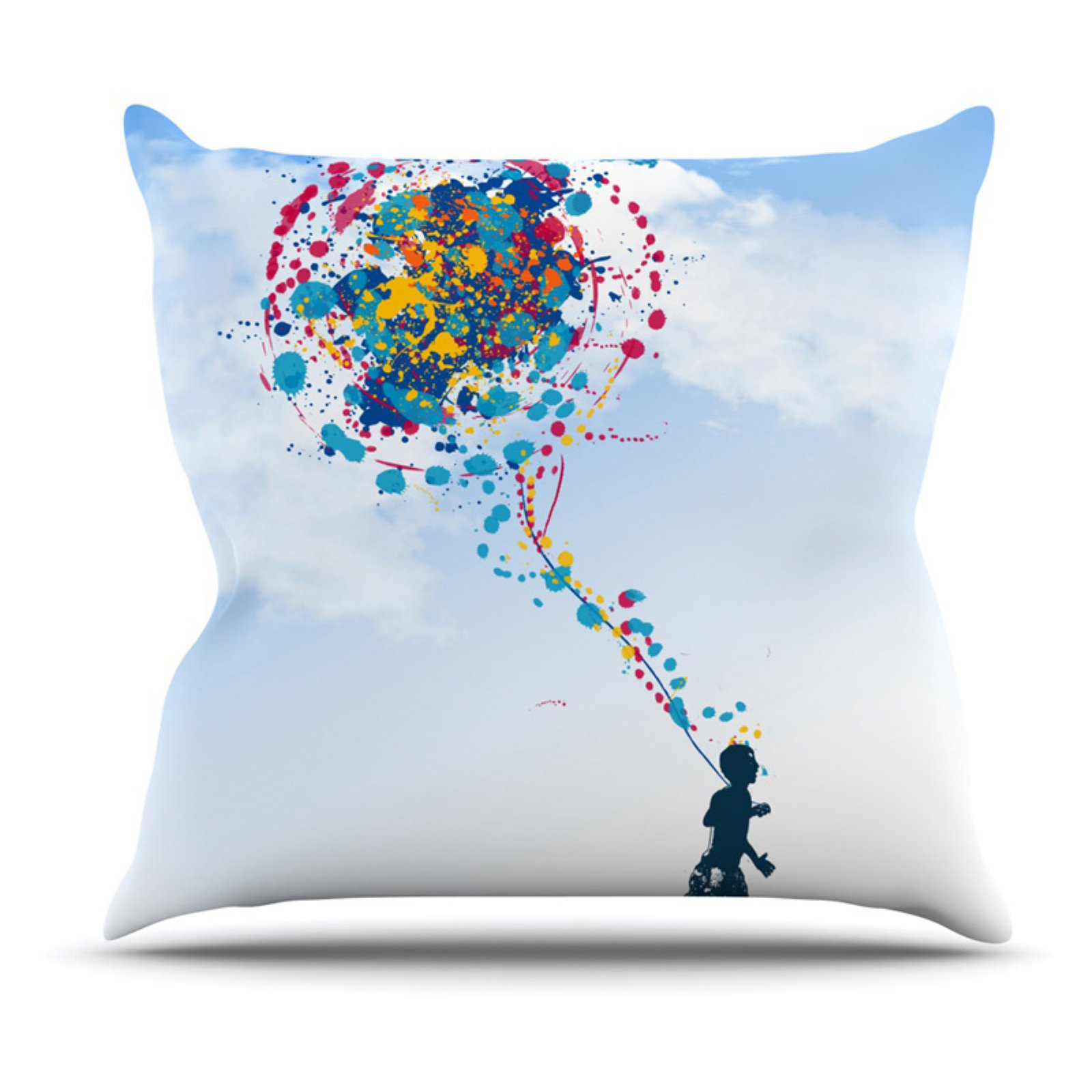 Kess InHouse Frederic LevyHadida Child Creation Chronicle Indoor/Outdoor Throw Pillow