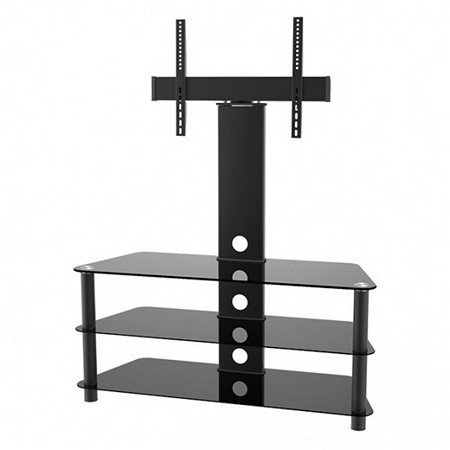 Calrad Electronics 47-200 Metal TV Stand with 3 glass shelves. 32-65