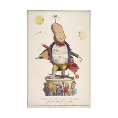 Murphy the Dick-Tater, Alias the Weather Cock of the Walk, 1837 Print Wall Art By Standidge & Co