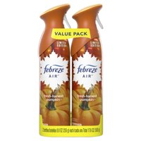 Febreze Air Freshener Value Pack, Fresh-Harvest Pumpkin, 2 count, 8.8 oz each