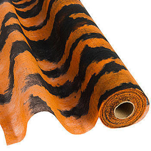 "Flame Retardent Gossamer, 19"" x 25 Yards, Tiger Print"