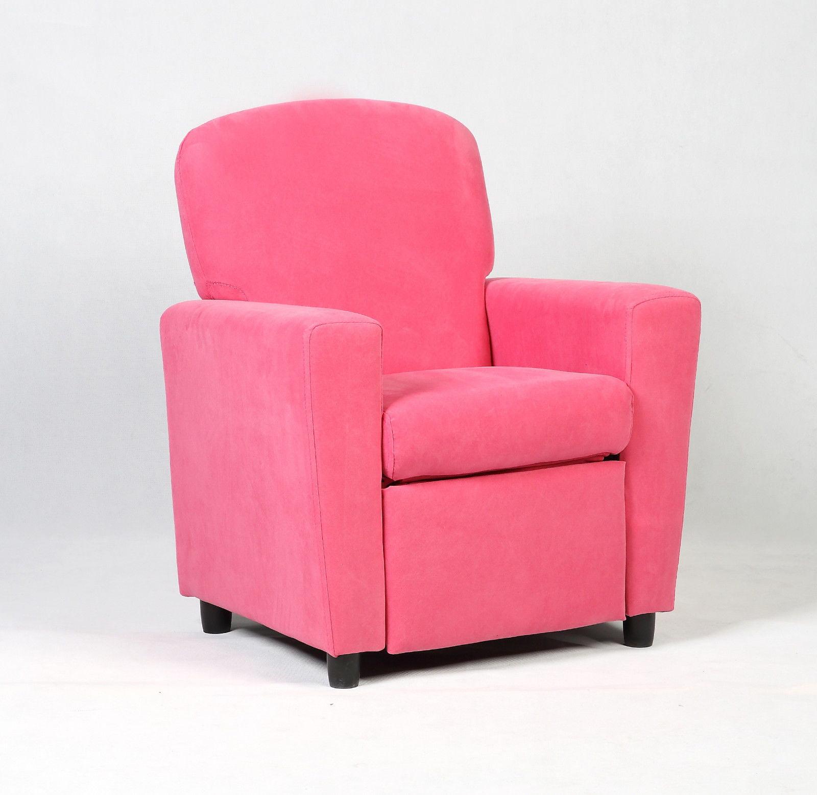 Costway Kids Recliner Sofa Armrest Chair Couch Lounge Children Pink