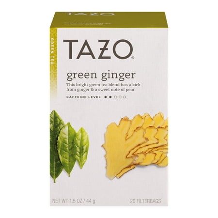 (3 Boxes) Tazo Green Ginger Tea bags Green tea (Ginger Green Tea)