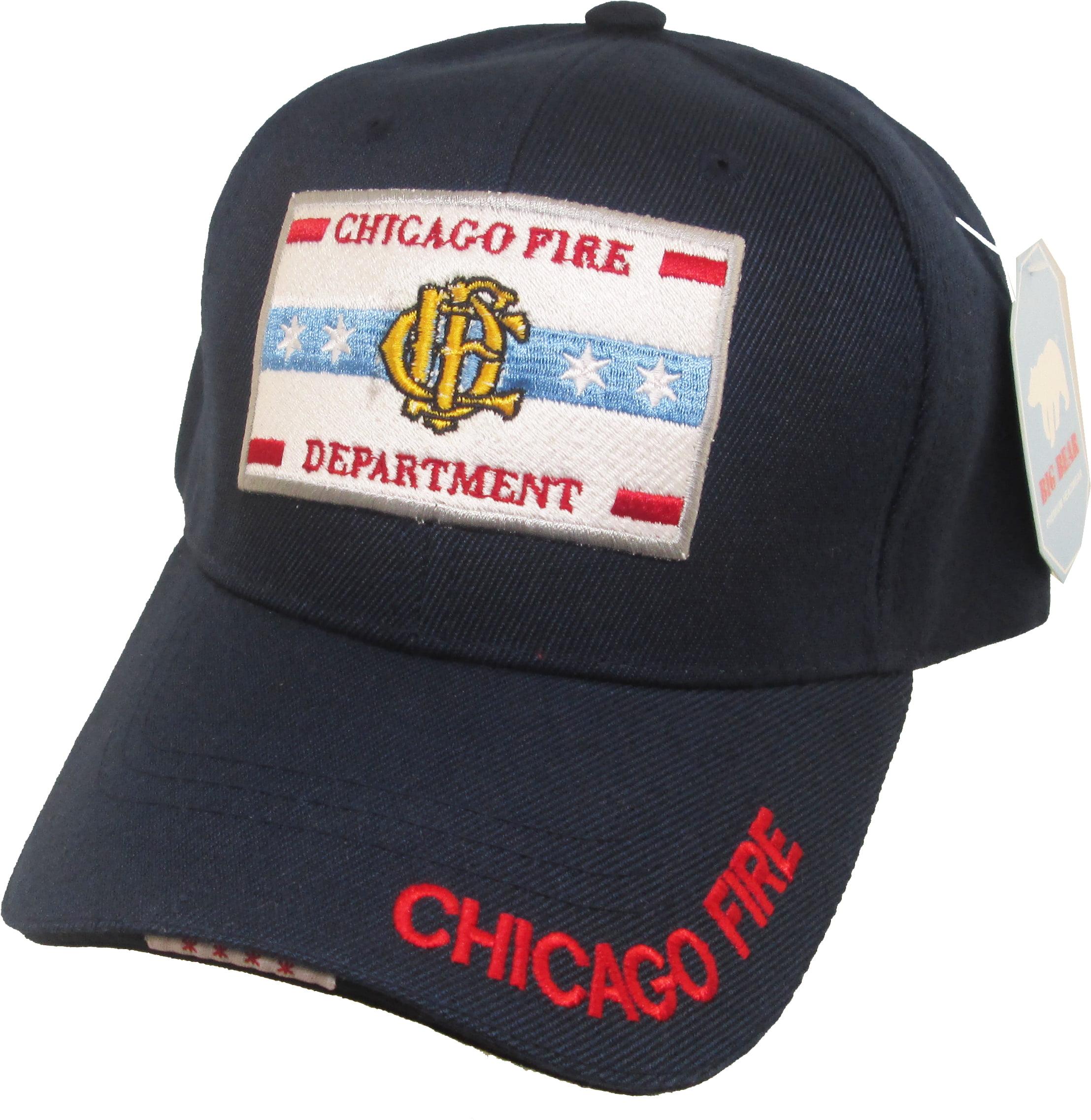 Cultural Exchange Chicago Fire Department Logo Mens Cap Navy