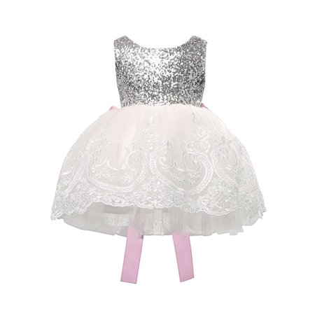 Multitrust Baby Girl Kids Party Tutu Dress Pageant Wedding Birthday Princess Christening Christening Sheer Dress