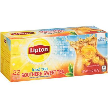 (4 Boxes) Lipton Family Tea Bags Southern Sweet Tea 22 ct