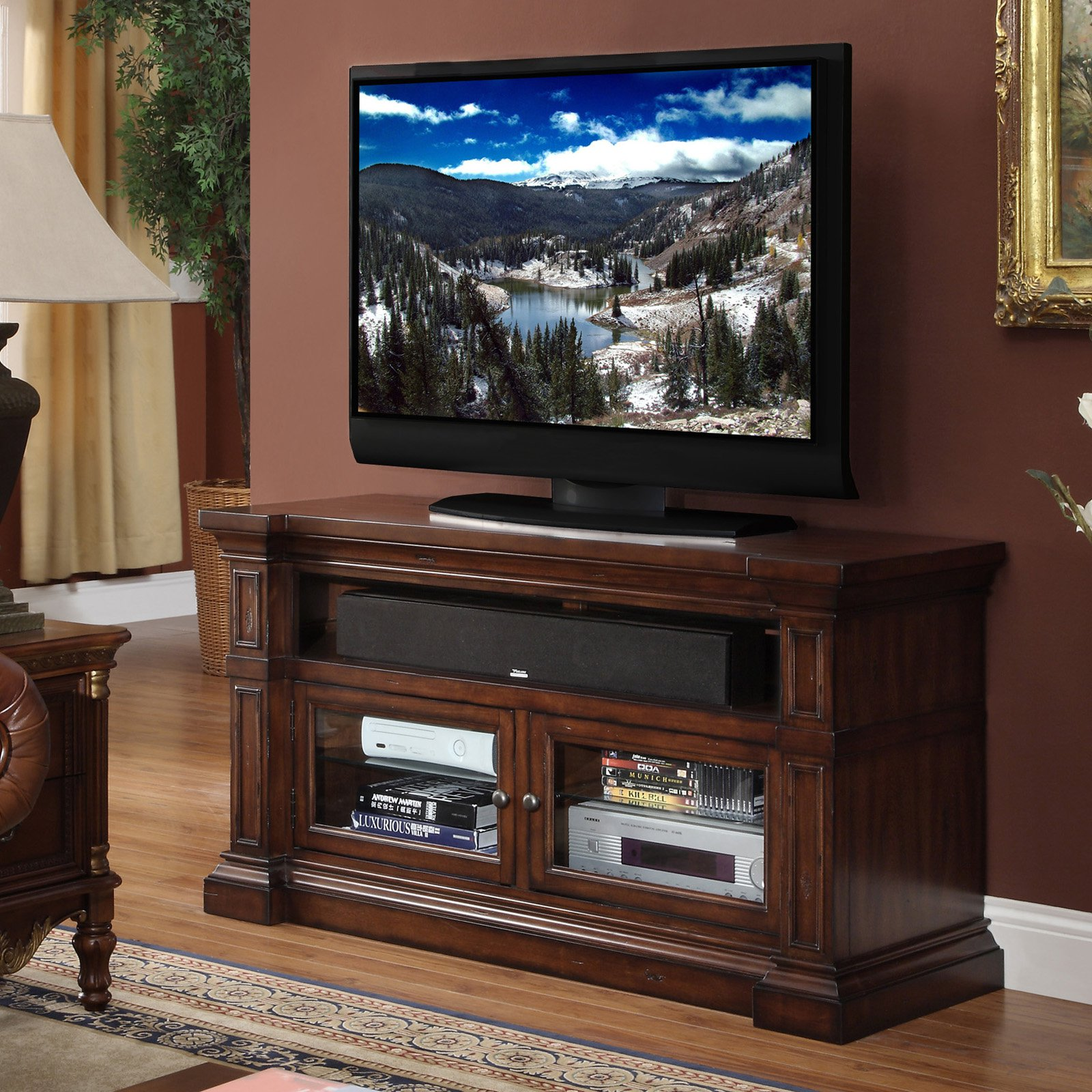 Legends Berkshire 52 in. Media Console - Old World Umber