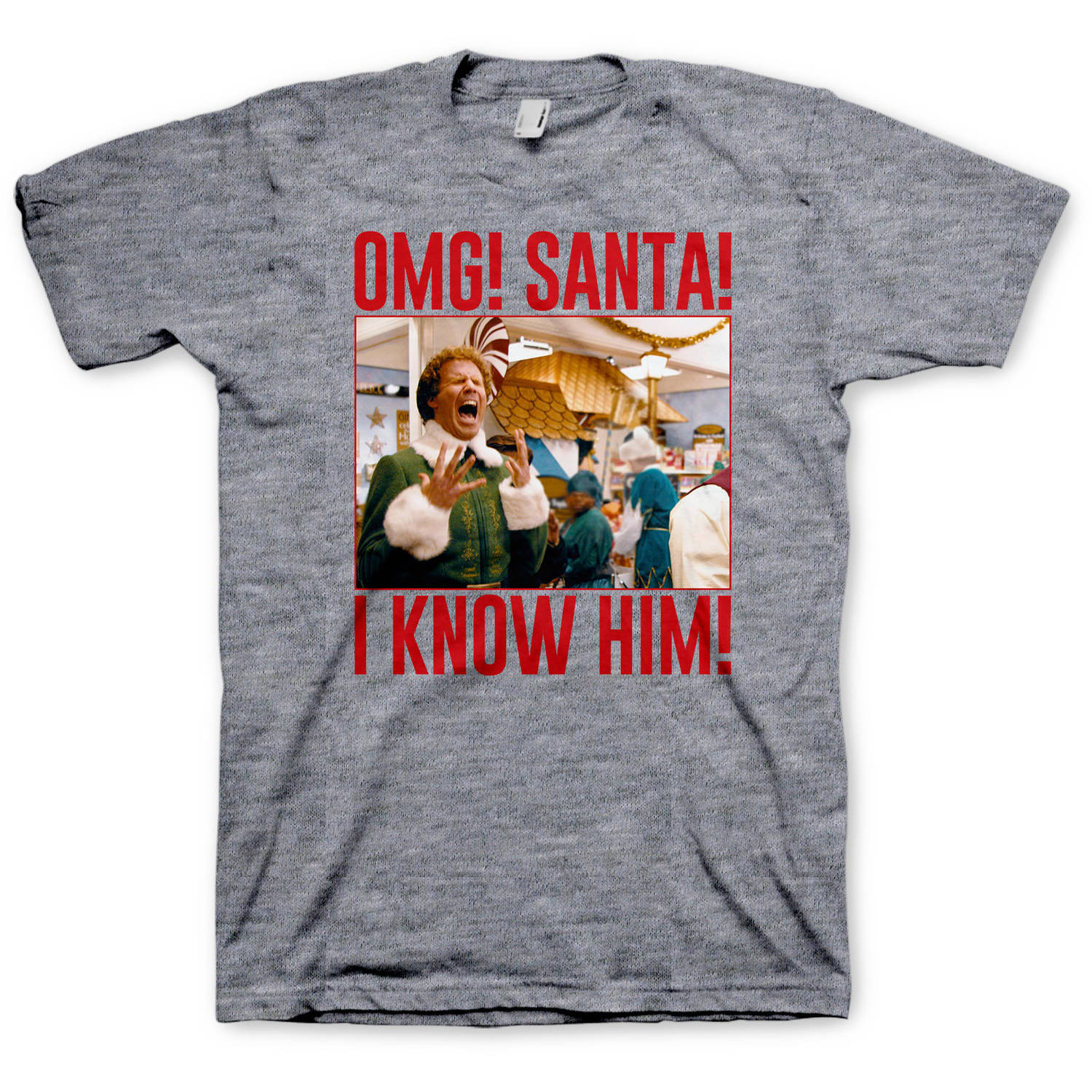 Elf OMG! Santa! I know him! Men's Graphic Tee