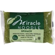 Miracle Noodle Spinach Shirataki Noodles Pasta, 7 oz (Pack of 6)