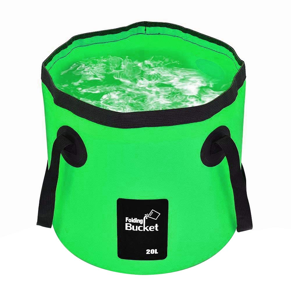 Qtopun Portable Wash Basin With Carrying Pouch Collapsible Water Container for Camping Hiking Fishing Foldable Travel Bucket
