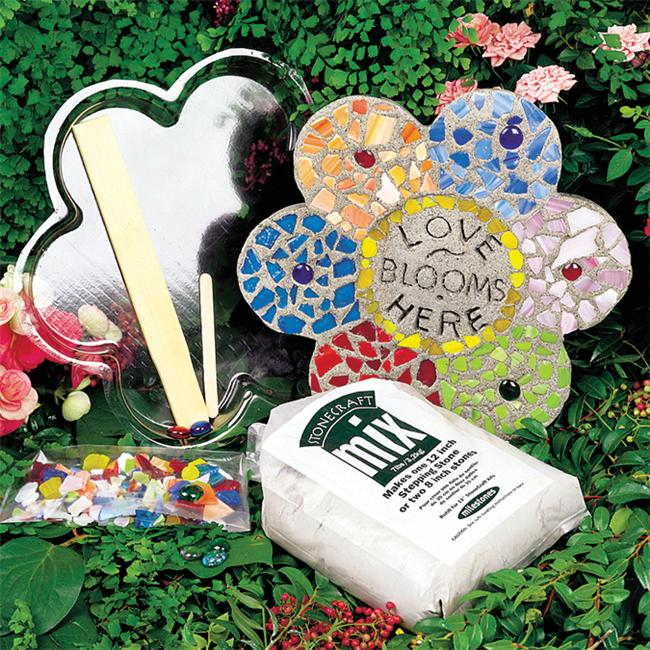 Milestones 90111277 Mosaic Flower Stepping Stone Kit