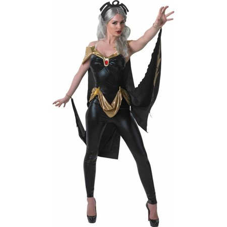 Marvel Classic Secret Wishes X-Men Storm Women's Adult Halloween Costume (X Men Women Halloween Costume)