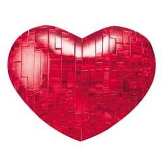 Red Heart Shaped 3d Crystal Puzzle - image 1 de 1