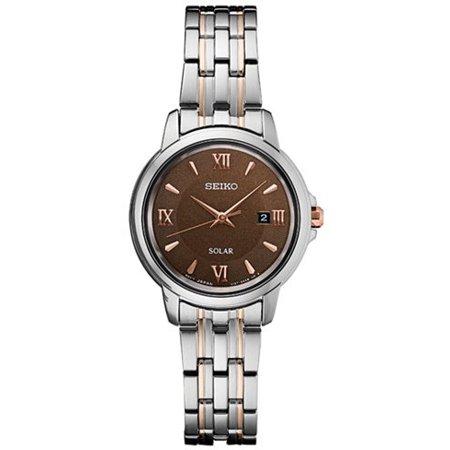 Seiko Ladies Diamond Coutura Silver Tone Watch (Women's 'LADIES' Quartz Stainless Steel Dress Watch, Color:Silver-Toned (Model: SUT349) )