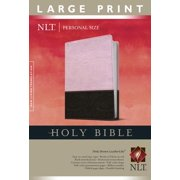 Holy Bible NLT, Personal Size Large Print edition, TuTone (Red Letter, LeatherLike, Pink/Brown)