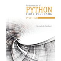 Fundamentals of Python : First Programs