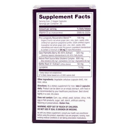 Best Reserveage Nutrition - Prostate Advantage - 60 Capsules deal