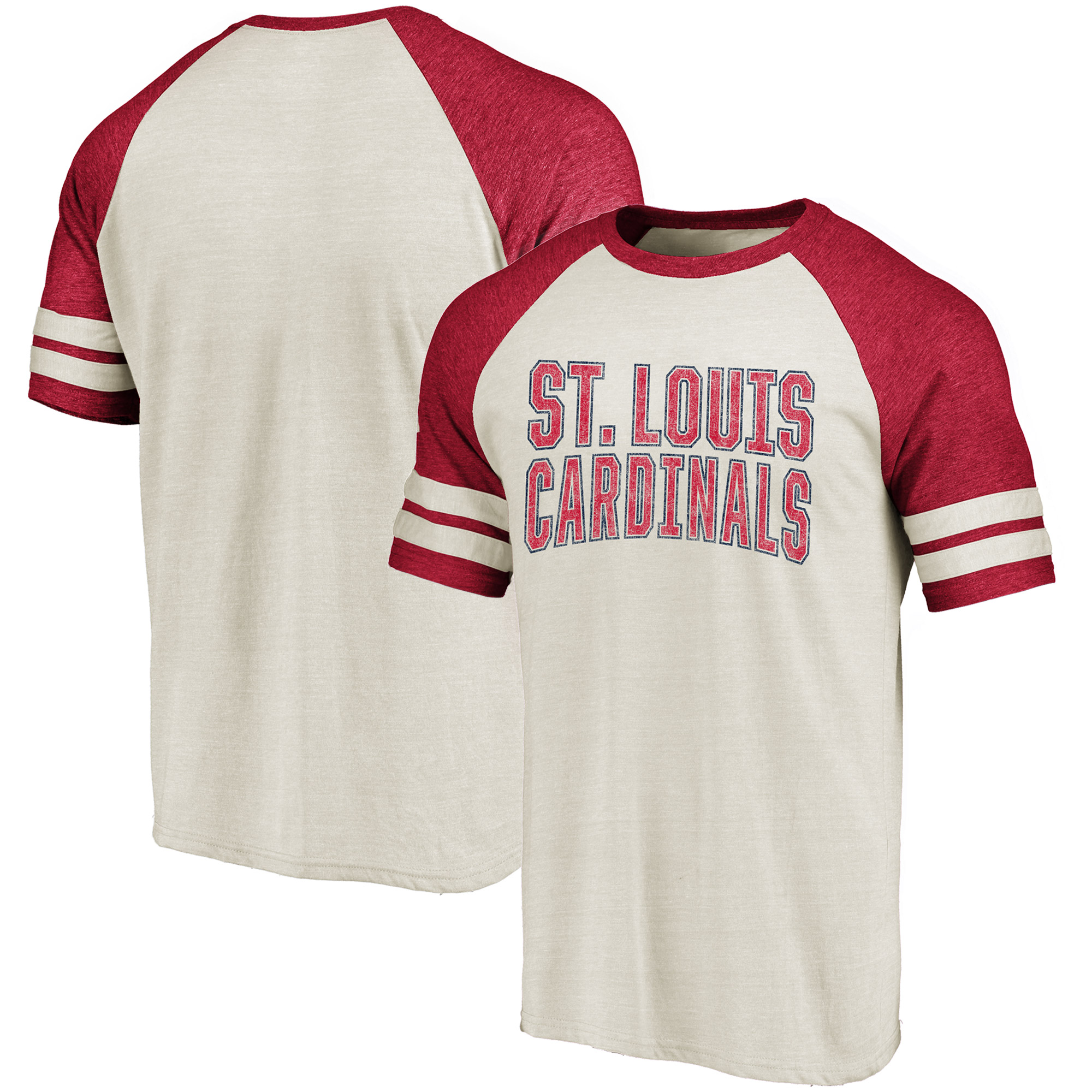 St. Louis Cardinals Fanatics Branded True Classics Colorblock Raglan T-Shirt - Cream/Red