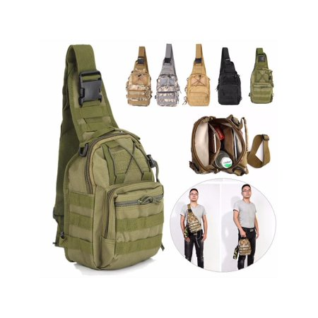 cb446d192b 10L Outdoor Tactical Backpack Sling Pack Chest Pack Military Sport Pack  Daypack Shoulder Backpack Messenger Travel Bag for Camping