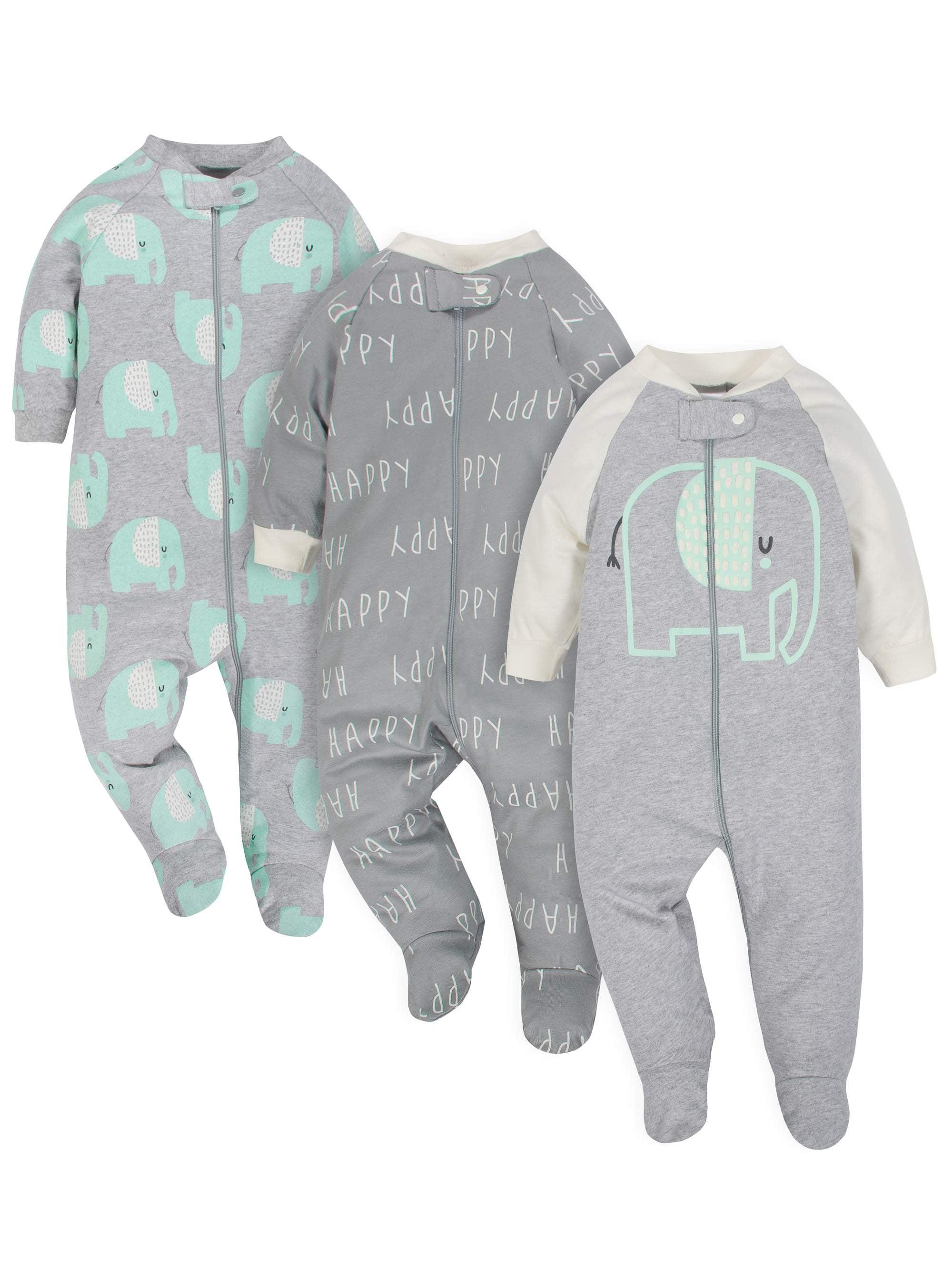 Organic Cotton Sleep N Play, 3pk (Baby Boy or Baby Girl Unisex)