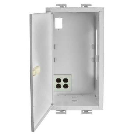 AV Ceiling Enclosure,Recessed,Steel,Wht HUBBELL WIRING DEVICE-KELLEMS AVCE1H
