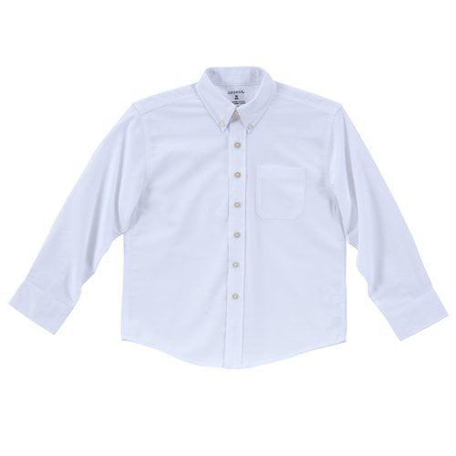 George Boys' Solid Oxford Husky Shirt, White