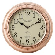 Sterling 13 in. Nautical Wall Clock - Polished Copper