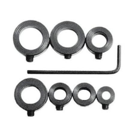 Drill Stop Bit Collar Set - 1/8 to 1/2 - 7-Piece