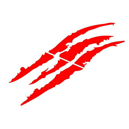 - Headlight Scratch Decal Sticker Stripe Claw Stripe Slash For Truck Car,Red