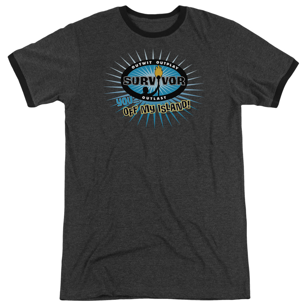 Survivor Off My Island Mens Adult Heather Ringer Shirt