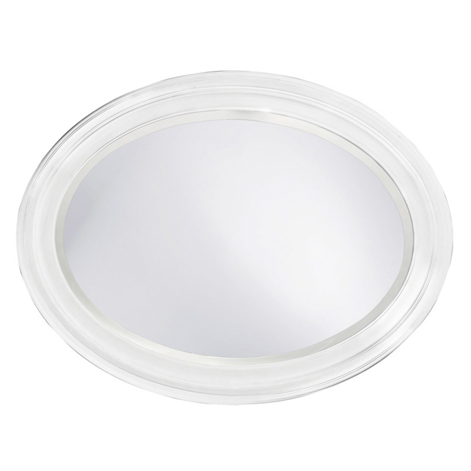 Belham Living Oval Wall Mirror White 25W x 33H in. by Howard Elliott Collection