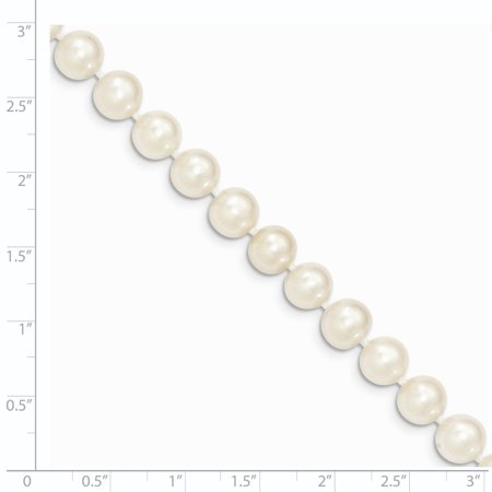 14K Yellow Gold Gold 8-9mm White Near Round FW Cultured Pearl Necklace 20 Inch - image 1 de 3