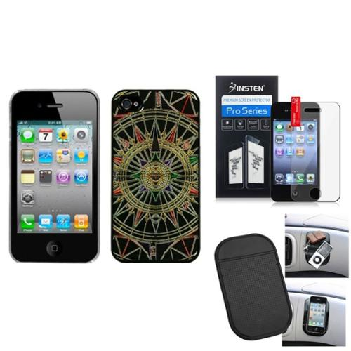 Insten Film Mat Star Compass Dream Back Case Cover For APPLE iPhone 4S/4
