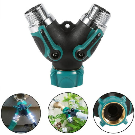 WALFRONT 1Pc NPT3/4  2 Way Heavy Duty Garden Hose Splitter Y Shape Valve Water Pipe Connector Adapter ,Garden Hose Connector, Water Pipe (Best Hose Splitter With Comforts)