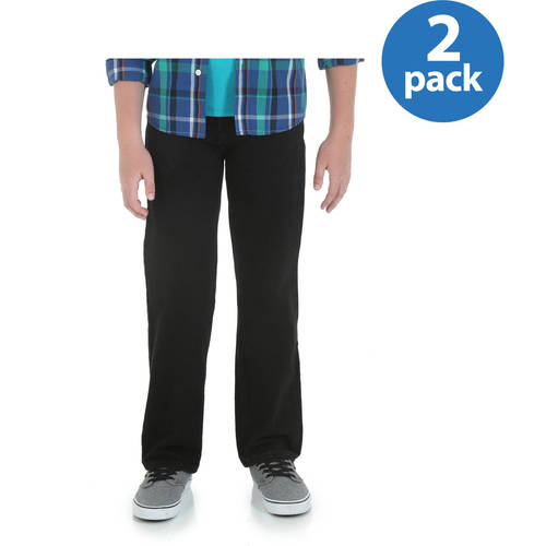 Wrangler Boys Loose Fit 5-Pocket Jean, 2 Pack Your Choice