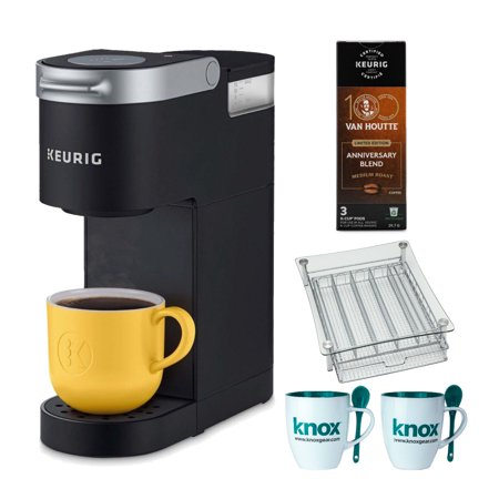 Keurig K-Mini Single Serve K-Cup Pod Coffee Maker (Black) w/ Pods, Mugs &
