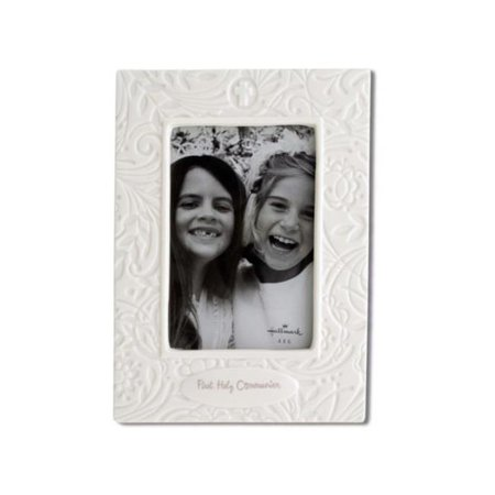 Kole Imports OT636-4 8.75 x 6.375 in. First Holy Communion Porcelain Photo Frame - Pack of 4