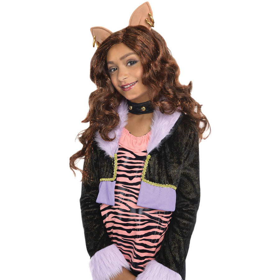 Monster High Clawdeen Wolf Wig Halloween Costume Accessory  sc 1 st  Walmart : monster high clawdeen wolf costumes  - Germanpascual.Com