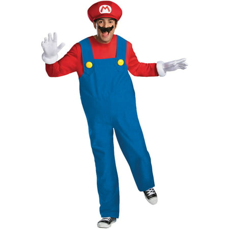 Mario Deluxe Men's Adult Halloween Costume - Halloween Costumes Mario