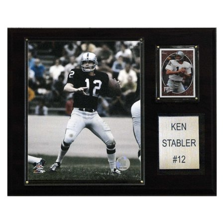 C&I Collectables NFL 12x15 Ken Stabler Oakland Raiders Player Plaque