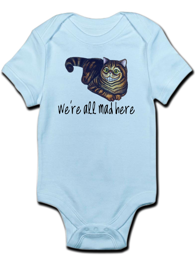 CafePress - Alice In Wonderland Quote All Mad Infant Bodysuit - Baby Light Bodysuit