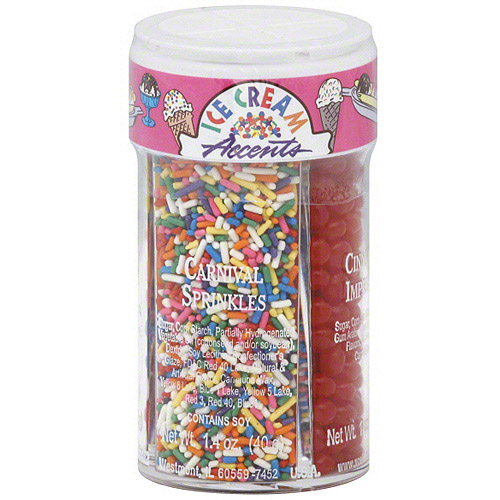 Dean Jacob's Ice Cream Accents Toppings, 5.9 oz (Pack of 6)